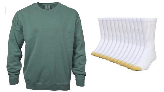 Gildan, Comfort Colors, Gold Toe and more