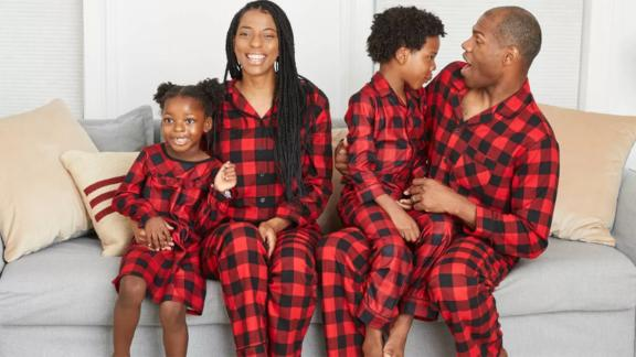Women's Holiday Buffalo Check Flannel Matching Family Pajama Set
