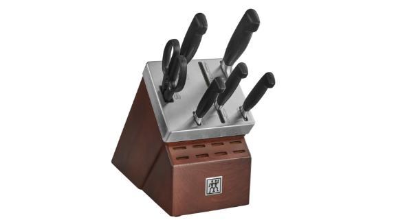 Zwilling J.A. Henckels Four Star Self-Sharpening Knife Block & Knife Set
