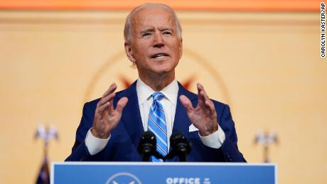 In his Thanksgiving speech, Biden called on Americans to reconsider their position on combating the epidemic.