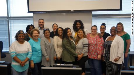 Participants in the San Diego Housing Commission's Bridges to Career program participate in their graduation in 2019. SDHC received $20,000 in emergency aid from the LISC this year in addition to $190,000 for its Bridges to Career program in 2019.