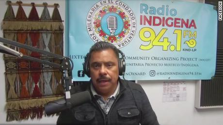 Francisco Didier Ulloa and a colleague host a show on Radio Indígena in Spanish and Mixteco, a indigenous Mexican language.