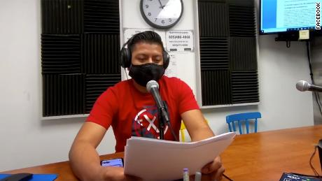 Radio Indígena's producer and host Bernardino Almazán  says it's complicated to explain some medical terms in Mixteco because it's an ancient language.