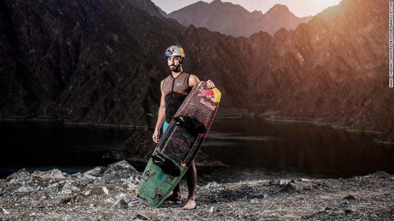 A man from the United Arab Emirates broke two wakeboarding records