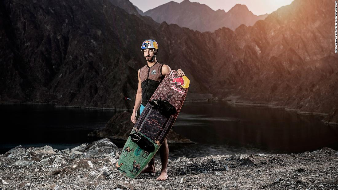 Emirati man breaks two wakeboarding records