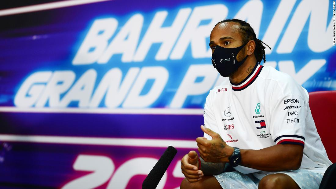 Lewis Hamilton addresses F1's 'massive problem' with human rights ahead of Bahrain Grand Prix