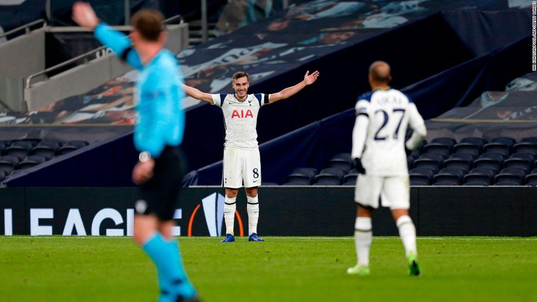 Wonder goal for Tottenham in the Europa League