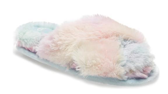 BP Sophie Criss-Cross Plush Bedroom Slipper