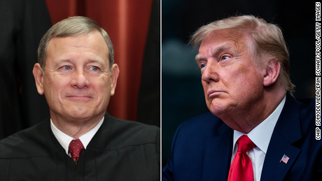 John Roberts can't escape the shadow of Donald Trump