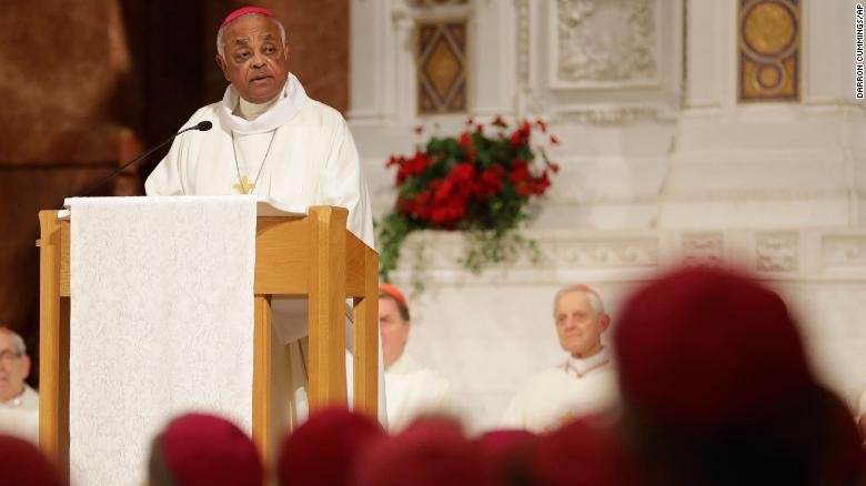 Gregory speaks during a Mass to repent clergy sexual abuse and to pray for molestation victims in 2017 in Indianapolis.