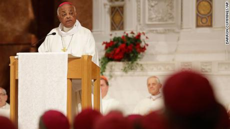 Archbishop Wilton D. Gregory addresses a Mass to repent of the sexual harassment of priests and to pray for the victims of molestation in 2017 in Indianapolis.