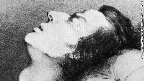 A drawing of Polish-born composer and pianist Frederic Chopin on his deathbed in 1849.