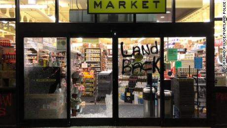 On November 26, 2020, at about 1:22 a.m., Portland Police responded to reports of people breaking windows and spraying graffiti on the New Seasons Market in the 4000 block of Southeast Hawthorne Boulevard. 