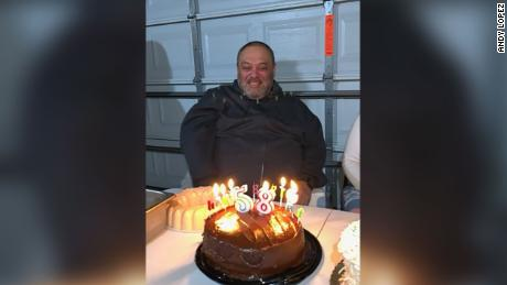 Guadalupe Lopez at his 58th birthday party.