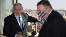 US Secretary of State Mike Pompeo (right) and Israeli PM Benjamin Netanyahu meet in Jerusalem on November 19, 2020.