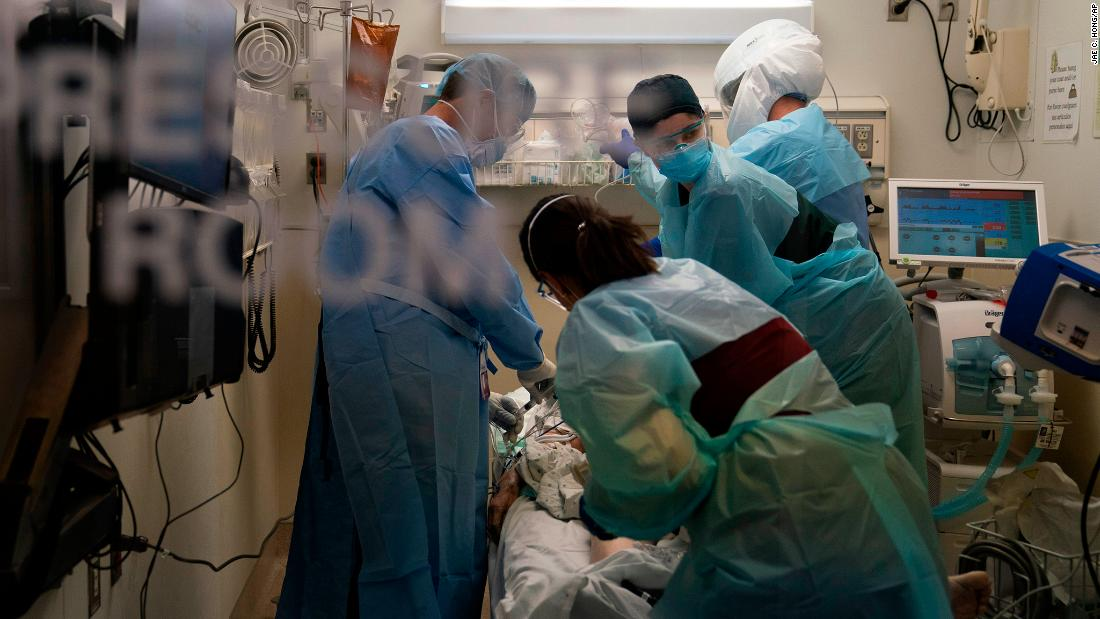 More than 91,000 people — the most of the pandemic — are hospitalized with coronavirus in the US
