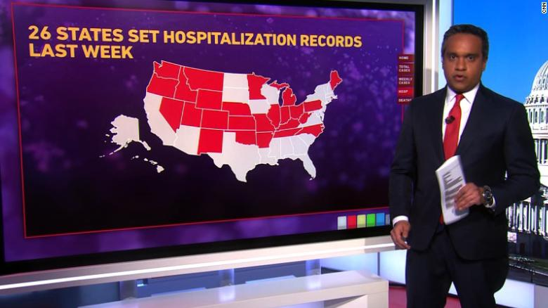 Us Coronavirus As Us Sees New High For Covid 19 Hospitalizations States Are Preparing For Vaccine Rollouts Cnn