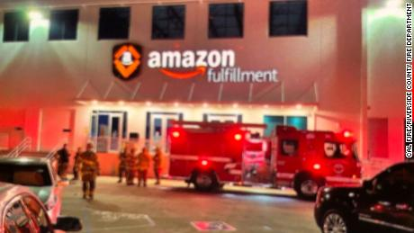 An Amazon fulfillment center in Eastvale, California, was evacuated Saturday after employees reported a strange odor.