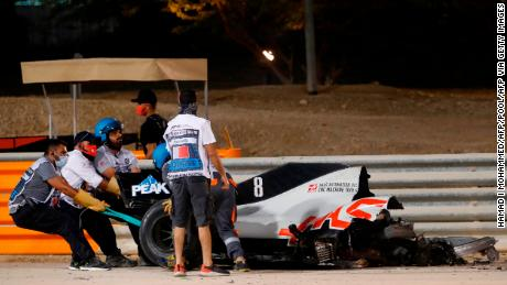 Formula One driver survives fiery crash during Bahrain Grand Prix