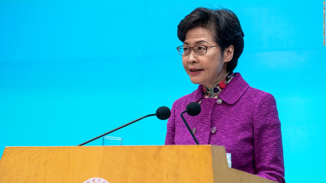Hong Kong's leader is getting paid in cash because banks won't deal with her