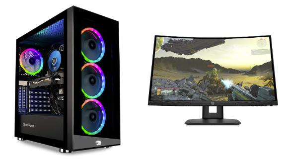 PC gaming laptops, desktops and monitors