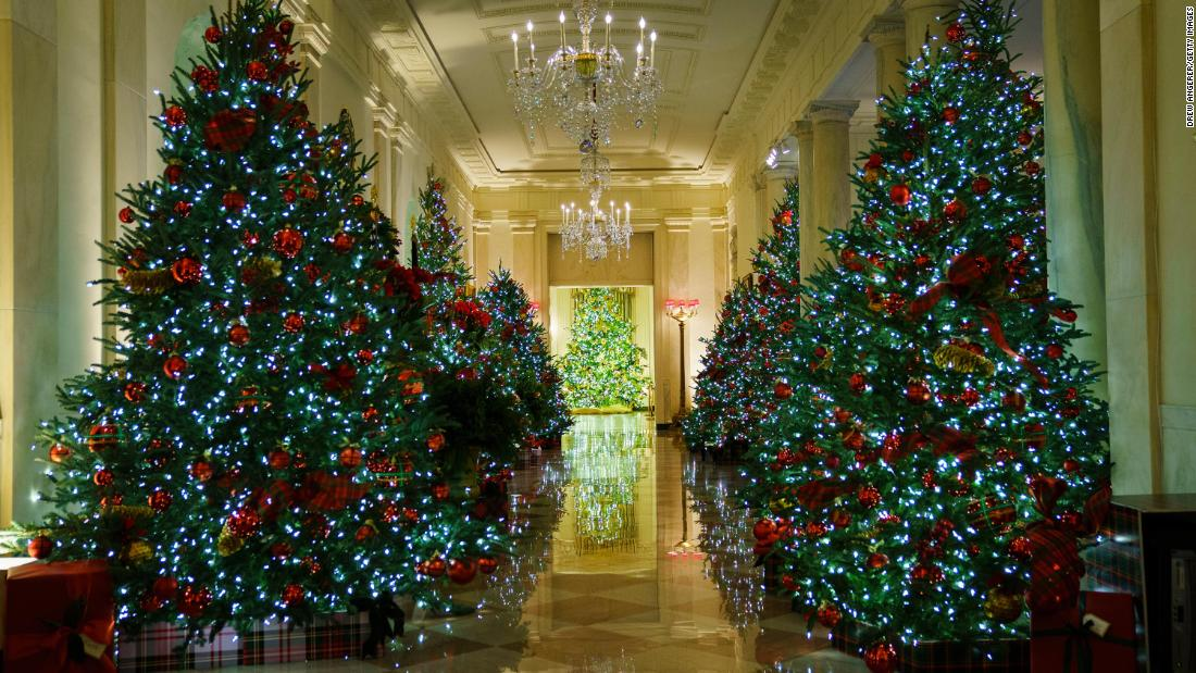 Melania Trump's White House holiday decor spotlights essential workers