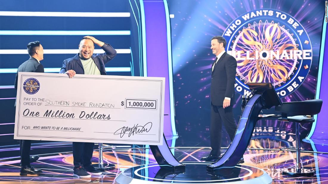 David Chang became the first celebrity to win $1 million on the show.