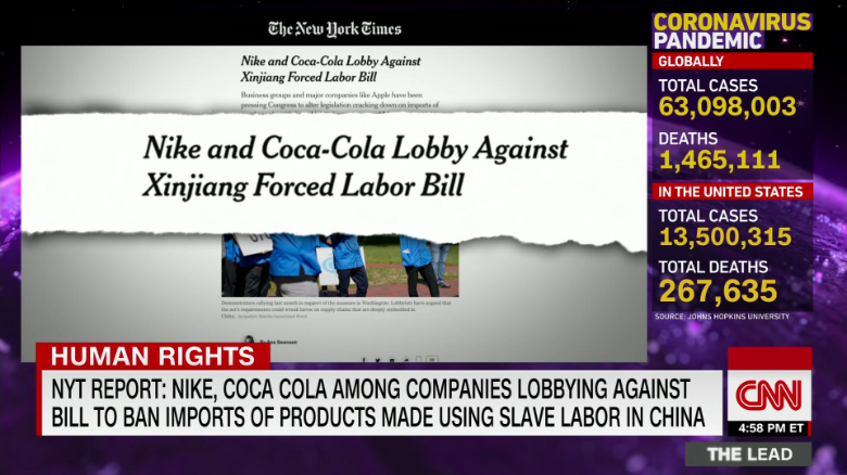 Lead Nike/Coke Forced Labor Live Jake Tapper _00001309