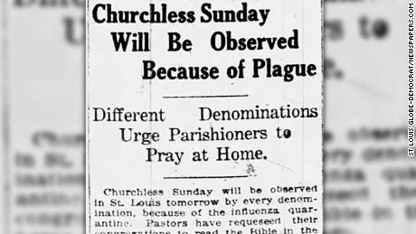 During the 1918 influenza pandemic, religious institutions worldwide closed their doors to save lives.