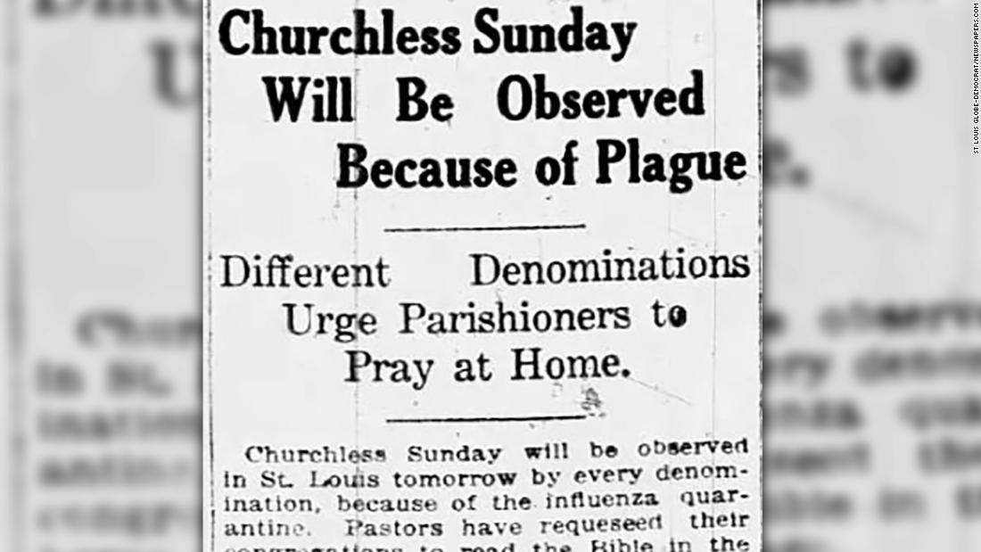 During the 1918 flu, churches that refused to adapt reaped the consequences