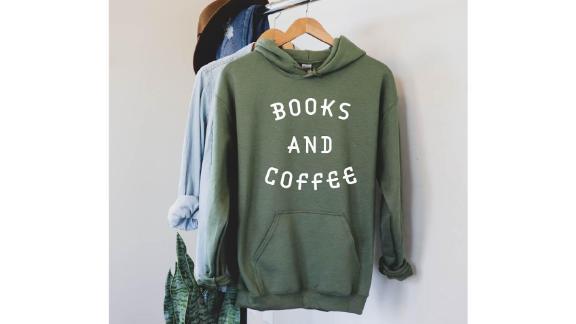 BoutiqueSadieUS Books and Coffee Sweatshirt
