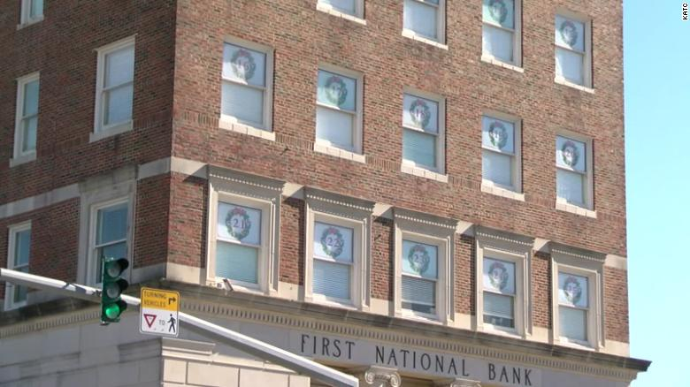 Louisiana bank turns its multi-storied building into a large Advent calendar