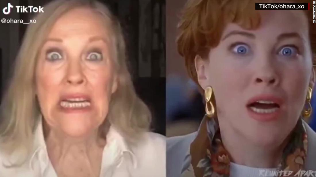 Actress recreates famous movie scene from 'Home Alone'