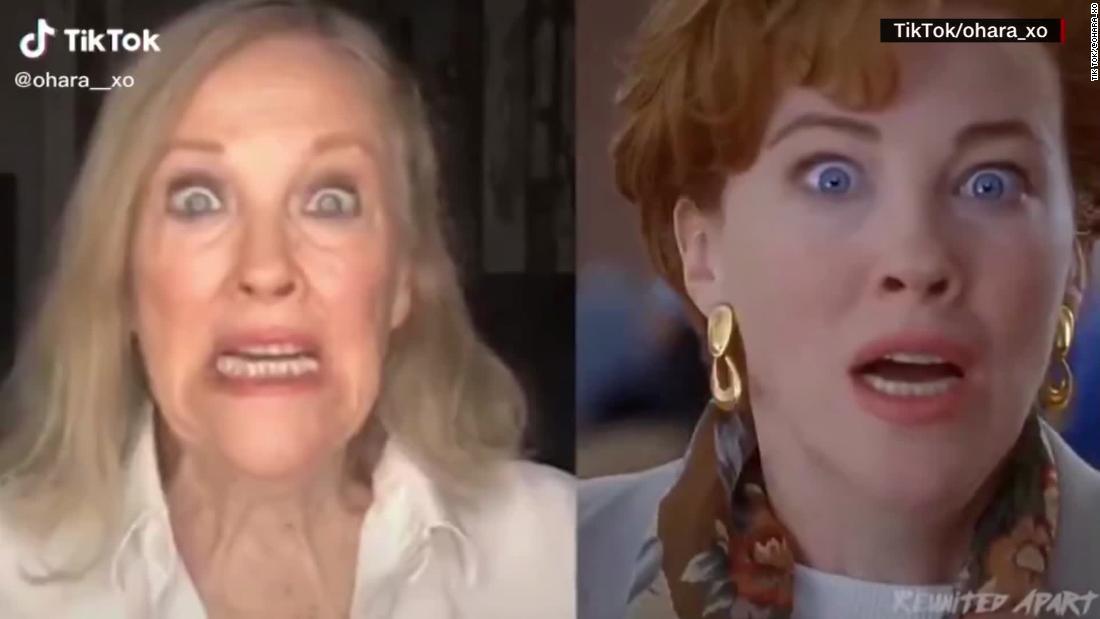 'Schitt's Creek' actress recreates famous movie scene  – CNN Video