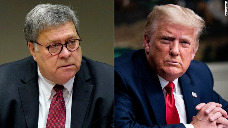 Trump and Barr had 'contentious' White House meeting this week, source says