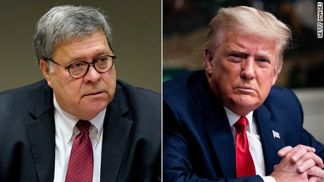 Trump tweets about Bill Barr's departure from White House
