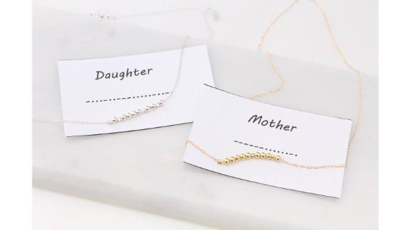 ElegantSwan Morse Code Mother and Daughter Necklace