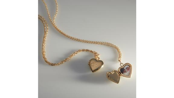 Dollhouse Heart Locket, Gold