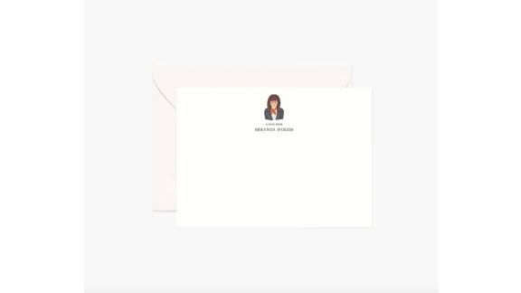 Rifle Paper Co. Personalized Flat Notes, Set of 20