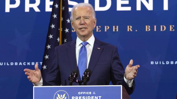 WILMINGTON, DELAWARE - DECEMBER 01: U.S. President-elect Joe Biden speaks during an event to name his economic team at the Queen Theater December 1, 2020 in Wilmington, Delaware. Biden is nominating and appointing key positions of the team, including Janet Yellen to be Secretary of the Treasury. (Photo by Alex Wong/Getty Images)