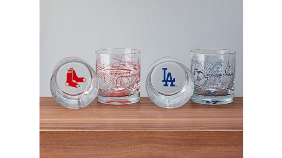 Baseball Park Map Glasses