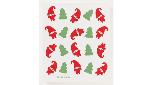 Tomte Elves Swedish Dishcloth