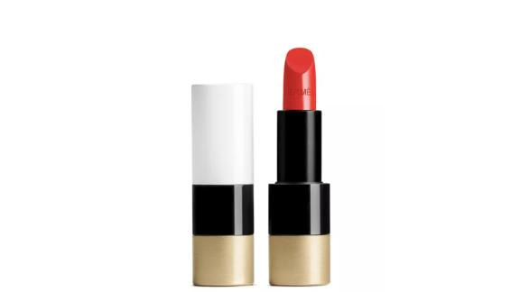 Rouge Hermès Satin Lipstick in Rouge Amazone