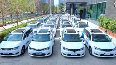 Self-driving robotoxis departs in China