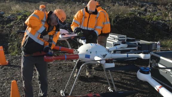 Image for This company is using drones to replant forests devastated by wildfires