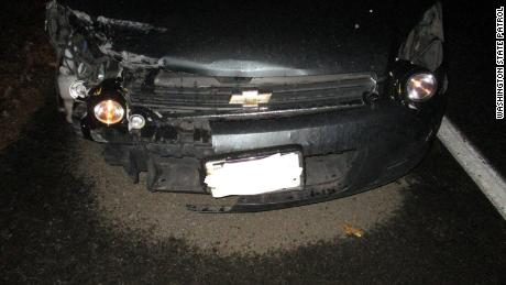 Flashlights were used to replace the headlights on the motorist's vehicle.