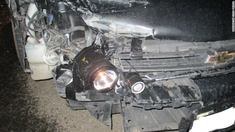 Driver busted for using flashlights as headlights on his car