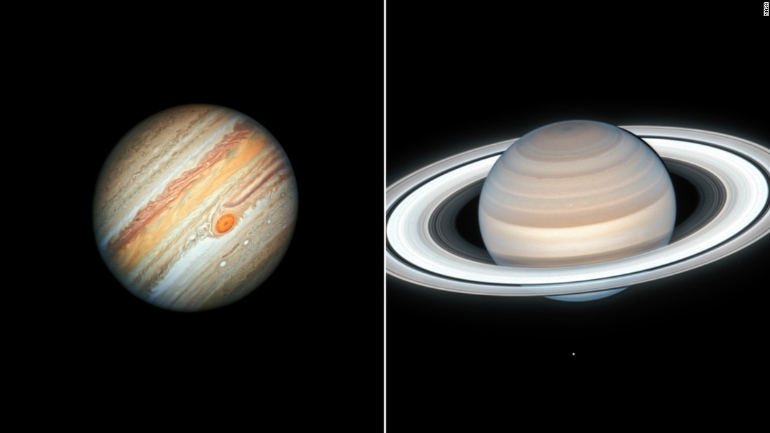 Jupiter and Saturn will look like a double planet