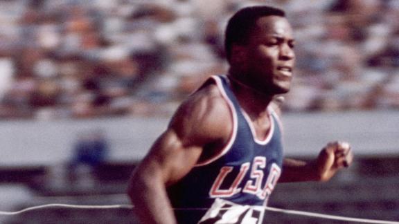Rafer Johnson won the 1960 Olympic Decathlon in his last race.