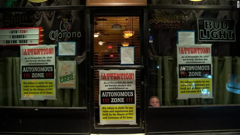 Staten Island bar shut down after declaring itself an 'autonomous zone' and defying Covid-19 rules, sheriff's office says
